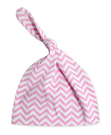 ATUN Knot Cap Zig Zag Print - Pink