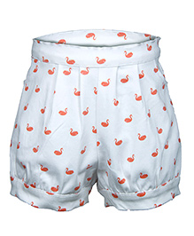 My Lil Berry Shorts Duck Print - Off White