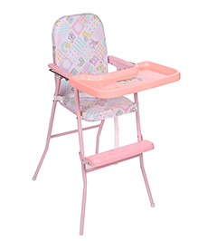 New Natraj Multipurpose Baby High Chair Multi Print - Pink