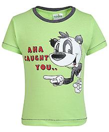Babyhug Half Sleeves T-Shirt Puppy Print - Green