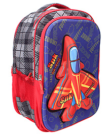 Bags & Baggage School Bag Checks Design Blue And Black - Height 17 Inches
