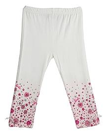 Barbie Full Length Leggings Floral Print - Off White