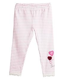 Barbie Leggings Stripe Pattern - Pink