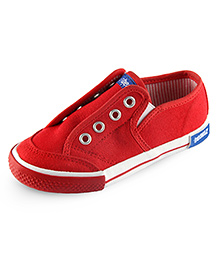 Beanz Slip-On Style Sneakers - Red