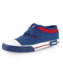 Beanz Sneakers With Velcro Closure - Blue And Red