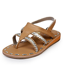 Beanz Sylvie Sandal - Beige And Silver
