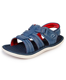 Beanz Meadow Sandals With Velcro Closure - Blue