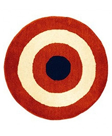 Fly Frog Wool Yarn Dyed Superhero Rug - Red And Blue