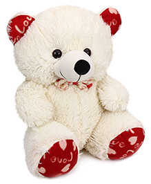 Playtoons Sitting Teddy Bear Off White - Height 17 Inches