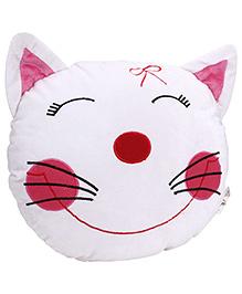 Playtoons Cat Face Cushion - White