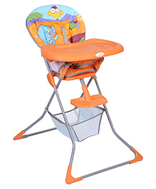 High Chair With Storage Basket Orange - HC-61