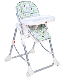 High Chair With Tray Circle Print Cream - HC-31