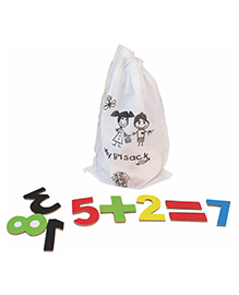 Skillofun Magnetic Cutouts Wooden Numbers And Math Symbols - Multi Color