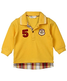 Beebay @DQ@5@DQ@ Emb. Patch Polo 100% Cotton Yellow 6Y