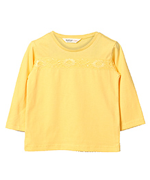 Beebay Full Sleeves Plain Skivvy - Yellow