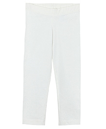 Beebay Full Length Solid Color Leggings - Off White