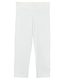 Beebay Full Length Solid Color Leggings - Off White