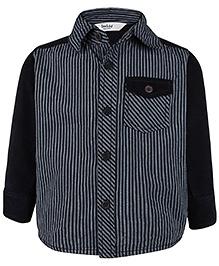 Beebay Full Sleeves Corduroy Shirt Stripes Design - Black