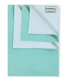 Babyhug Smart Dry Bed Protecting Mat Sea Green - Large