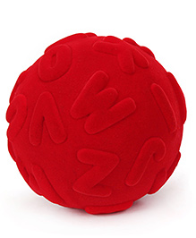 Rubbabu Alphalearn Rubber Foam Ball Uppercase - Red
