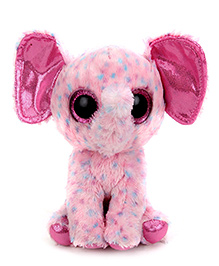 Beanie Babies Speckled Elephant Soft Toy Pink - Height 7 Inch