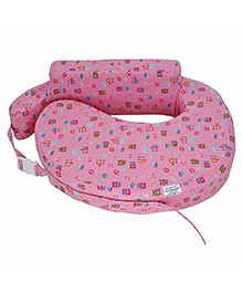 Comfeed Pillows By Nina Nursing And Feeding Pillow Teddy Bear Print - Pink