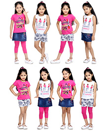 N - XT Multi Piece Clothing Set Pack Of 5 - Pink White And Blue