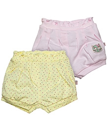 FS Mini Klub Shorts Pack Of 2 - Yellow And Pink
