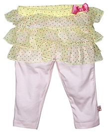 FS Mini Klub Ruffle Skirt With Leggings - Yellow