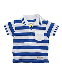 FS Mini Klub Collar Neck T-Shirt Stripes - Blue