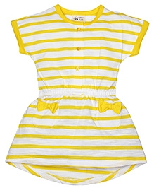 FS Mini Klub Short Sleeves Dress Stripe Pattern - Yellow