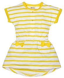 FS Mini Klub Short Sleeves Dress Stripe Pattern - Yellow