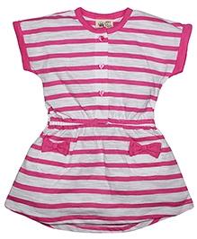FS Mini Klub Short Sleeves Dress Stripe Pattern - Pink