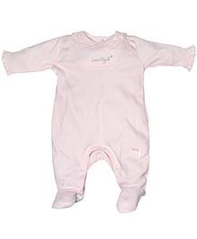 FS Mini Klub Full Sleeve Sleepsuit Lace Detailing - Pink