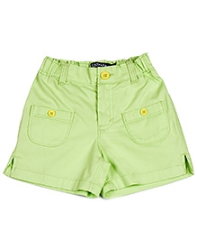 Campana Shorts Side Slits Pattern - Green