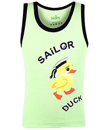 Babyhug Sleeveless Vest Sailor Duck Print - Green