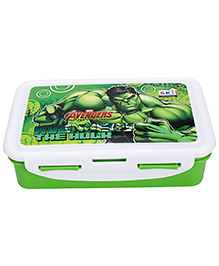 Marvel Avengers Hulk Print Lunch Box - Green And White