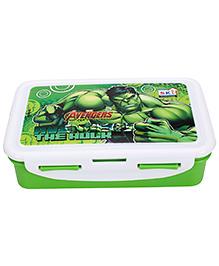 Marvel Avengers Hulk Print Lunch Box - Green And White