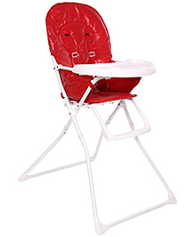 High Chair With Meal Tray Red And White - HC-15