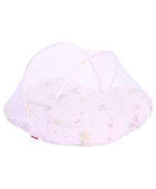 Sapphire Bedding Set With Mosquito Net Teddy Print Medium - Light Pink