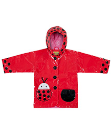Kidorable Red Ladybug Raincoat