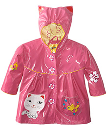 Kidorable Pink Cat Raincoat