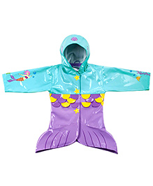Kidorable Purple Mermaid Raincoat