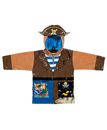Kidorable Brown Pirate Raincoat