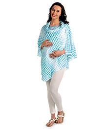 House Of Napius Radiation Safe Maternity Poncho Cowl Neck Style Tunic - Hawaiian Ocean