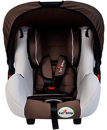 1st Step Car Seat Cum Carrycot With Rocking Function - Cream And Brown