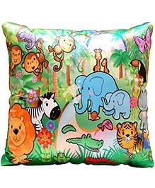Surbhi Kids Cushion Jungle Theme - Multi Colour