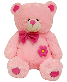 Surbhi Teddy Bear Soft Toy With Bow Pink - Height 80 cm