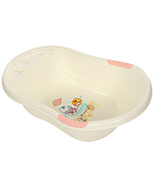 Baby Bath Tub - White And Pink