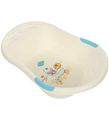 Baby Bath Tub - White And Blue